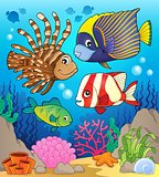 Coral reef fish theme image 1