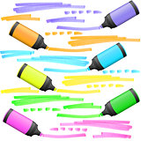highlighters with markings
