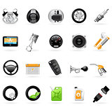 Vehicular service center (car maintenance station) icons