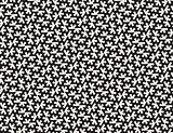 Vector Seamless Black and White Rounded Organic Shape Tessellation Pattern