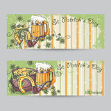Set of horizontal banners for St. Patricks Day