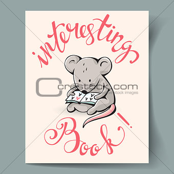 Postcard with a  mouse