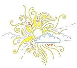 Sun rays ornament