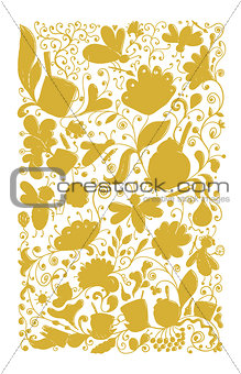 Abstract floral pattern, sketch for your design