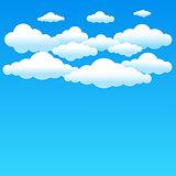 cartoon blue clouds