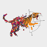 Jumping tiger from triangulating world