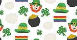 St. Patrick's day pattern with theme objects. Seamless pattern. illustration.