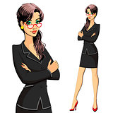 A woman in a business suit. Secretary, manager, lawyer, accountant or clerk.