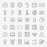 Business Office Life Line Art Design Icons Big Set