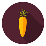 Garden Carrot Vegetable Circle Icon