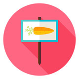 Garden Carrot Vegetable Sign Circle Icon