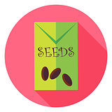 Garden Seeds Package Circle Icon