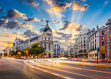 Madrid Spain on Gran Via