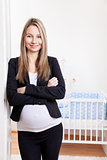 Pregnant businesswoman expecting a baby