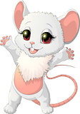 beautiful little mouse is happy