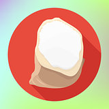 flour powder sack bag icon