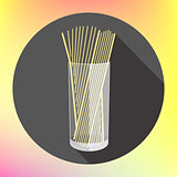 spaghetti pasta glass flat icon