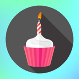 clipart cupcake burning candle flame