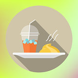 smoothie mashed potatoes flat icon