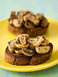 english pub grub mushroom toast