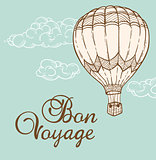 Vintage background with air balloon