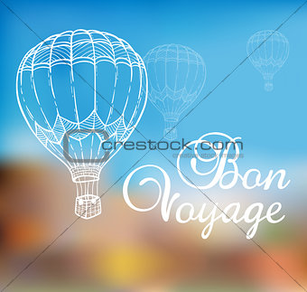 Background with air balloon