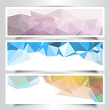 Abstract geometric design banners