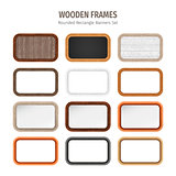 Wooden Rounded Rectangle Banners Set