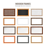 Wooden Rectangle Banners Set
