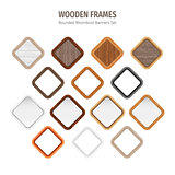 Wooden Rounded Rhomboid Frames