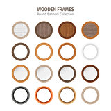 Wooden Round Frames Set