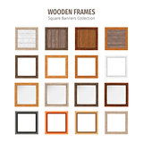 Wooden Square Frames Set