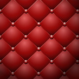 Red buttoned leather upholstery vector texture