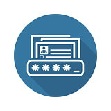Personal Data Protection Icon. Flat Design.