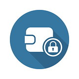 Assets Protection Icon. Flat Design.