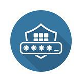 Security Code Icon. Flat Design.