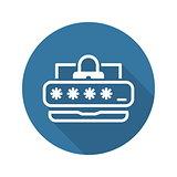 Password Protection Icon. Flat Design.