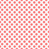 Red dots pattern, seamless