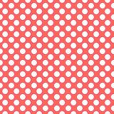 Red dots pattern, seamless