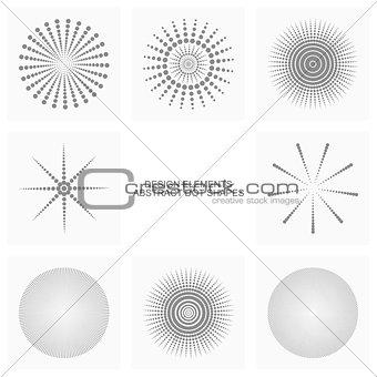 Abstract dot shapes, vector set