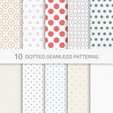 Dotted seamless vector patterns