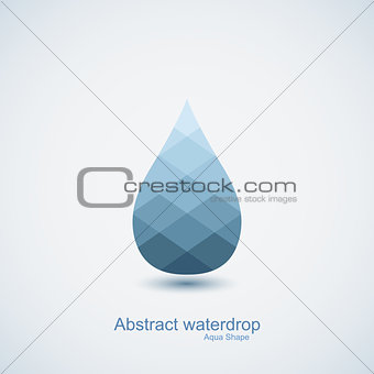 Abstract vector water drop icon
