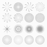Abstract dot shapes, vector set