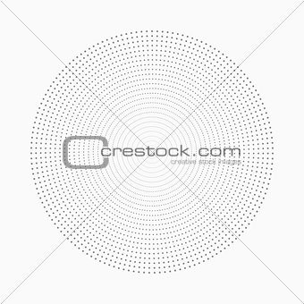 Abstract dot shape, vector design element