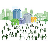 People groups in the city