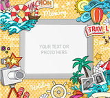 Vector photo frame concept