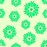 Seamless green background boho chic