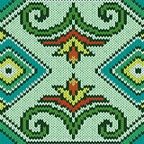 Knitted Seamless Pattern mainly in blue and green