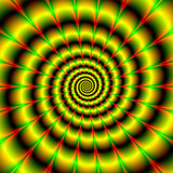 Spiral in Yellow Red and Green