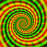 Double Spiral in Green and Orange